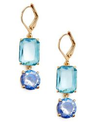 kate spade new york | Blue Kate Spade Shine On Mismatched Drop Earrings | Lyst