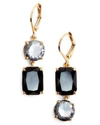 kate spade new york | Metallic Kate Spade Shine On Mismatched Drop Earrings | Lyst