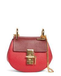 Chloé | Red Nano Drew Calfskin Shoulder Bag | Lyst