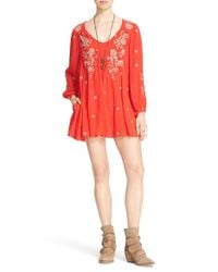 Free People | Sweet Tennessee Embroidered Dress | Lyst