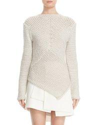 Narciso Rodriguez   White Handkerchief Hem Cashmere Sweater   Lyst