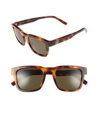 Ferragamo | Brown 51mm Square Sunglasses | Lyst