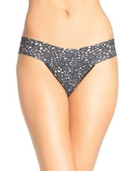 Hanky Panky - Black 'venise Eve' Low Rise Thong - Lyst
