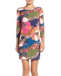 Trina Turk | Pink 'marybeth' Knit Shift Dress | Lyst