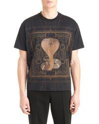 Givenchy Black Cobra Graphic T-shirt for men