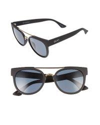 Quay | Black Odin 55mm Round Sunglasses | Lyst