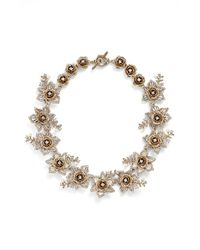 Marchesa Metallic Crystal Collar Necklace