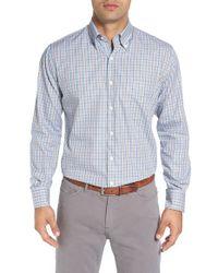 Peter Millar | Blue 'holt' Regular Fit Tattersall Sport Shirt for Men | Lyst