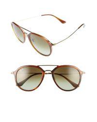 Ray-Ban | Multicolor 53mm Aviator Sunglasses - Striped Havana | Lyst
