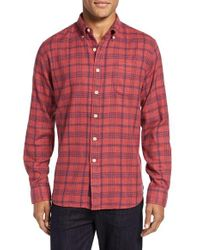 Grayers - Red Caledon Trim Fit Plaid Flannel Sport Shirt for Men - Lyst