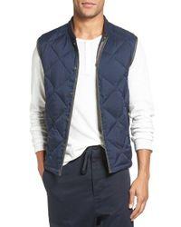 VINCE | Blue Quilted Down Liner Vest for Men | Lyst