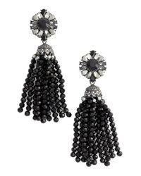 Marchesa | Black Tassel Drop Earrings | Lyst