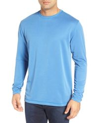 Bugatchi | Pink Long Sleeve Crewneck T-shirt for Men | Lyst