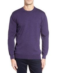 Bugatchi | Purple Merino Wool Sweater for Men | Lyst