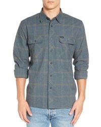 Brixton - Gray 'archie' Plaid Flannel Shirt for Men - Lyst