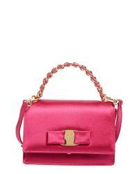Ferragamo | Black Ginny - Mini Crossbody Bag | Lyst