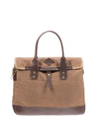 Will Leather Goods - Brown 'zig Zag Lookout' Briefcase - Lyst