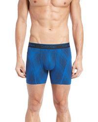 Calvin Klein | Blue Air Fx Microfiber Boxer Briefs for Men | Lyst