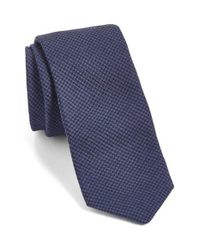 Ted Baker | Blue Herringbone Silk & Wool Skinny Tie for Men | Lyst