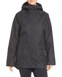 Helly Hansen Black 'appleton' Waterproof Insulated Hooded Coat