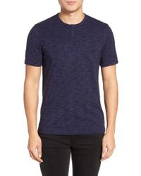Calibrate | Blue Space Dye One-button Henley for Men | Lyst