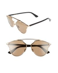 Dior | Metallic 'so Real' Studded 59mm Sunglasses | Lyst