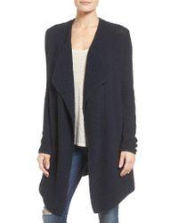 Caslon | Blue Cotton Blend Cardigan (regular & Petite) | Lyst