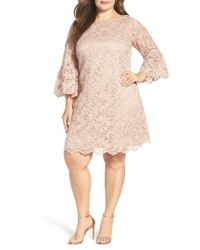Eliza J Purple Lace Shift Dress