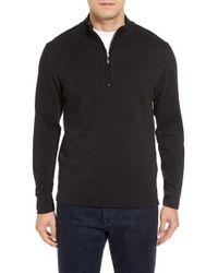 Robert Barakett - Black Cortina Quarter Zip Pullover for Men - Lyst