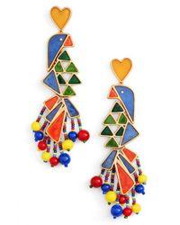 Tory Burch | Multicolor Statement Earrings | Lyst