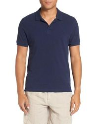 Vilebrequin | Blue Logo Pique Polo for Men | Lyst