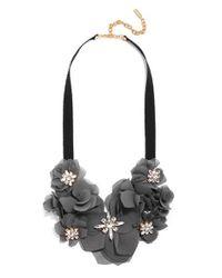 BaubleBar   Gray 'zinnia' Collar Necklace   Lyst