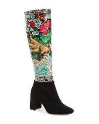 Jeffrey Campbell | Black Frieze Knee High Boot | Lyst