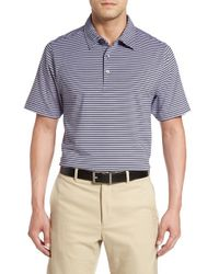 Cutter & Buck | Blue 'division' Stripe Polo Shirt for Men | Lyst