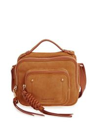 See By Chloé   Brown Patti Suede Crossbody Bag   Lyst