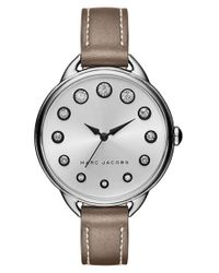 Marc Jacobs   Metallic 'betty' Leather Strap Watch   Lyst