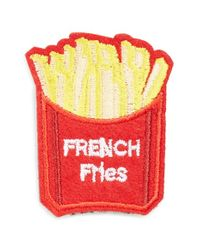 Cara | Red French Fries Patch Brooch | Lyst