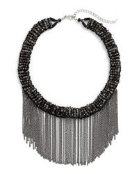 Panacea | Multicolor Chain & Crystal Collar Necklace | Lyst