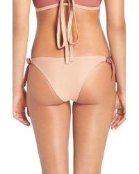 Lovers + Friends   Natural 'lindsay' Tie Sides Bikini Bottoms   Lyst