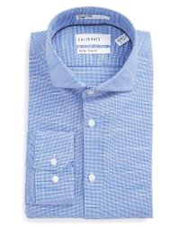 Calibrate | Blue Extra Trim Fit Non-iron Dress Shirt for Men | Lyst