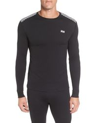 Helly Hansen | Black 'active Flow' Base Layer Long Sleeve T-shirt for Men | Lyst