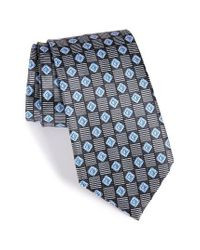Ermenegildo Zegna - Black Geometric Silk Tie for Men - Lyst