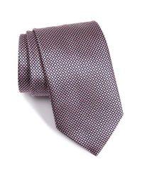 Ermenegildo Zegna | Pink Geometric Silk Tie for Men | Lyst