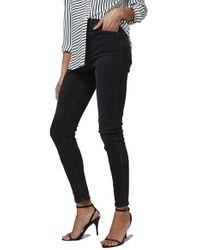 TOPSHOP | Black Washed Skinny Jeans | Lyst