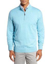 Peter Millar - Blue Crown Quarter Zip Sweater for Men - Lyst
