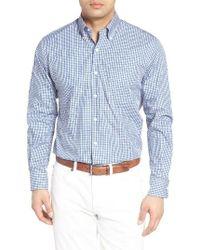 Peter Millar   Blue Pacific Multi Check Regular Fit Sport Shirt for Men   Lyst