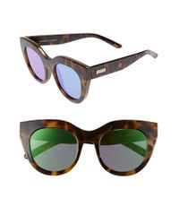Le Specs | Multicolor Air Heart 51mm Sunglasses - Milky Tort/ Gold | Lyst
