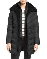 Kenneth Cole | Black Quilted Down Coat | Lyst