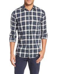 Billy Reid | Blue John T Standard Fit Check Sport Shirt for Men | Lyst