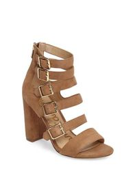 Sam Edelman | Brown Yasmina Buckle Strap Gladiator Sandal | Lyst